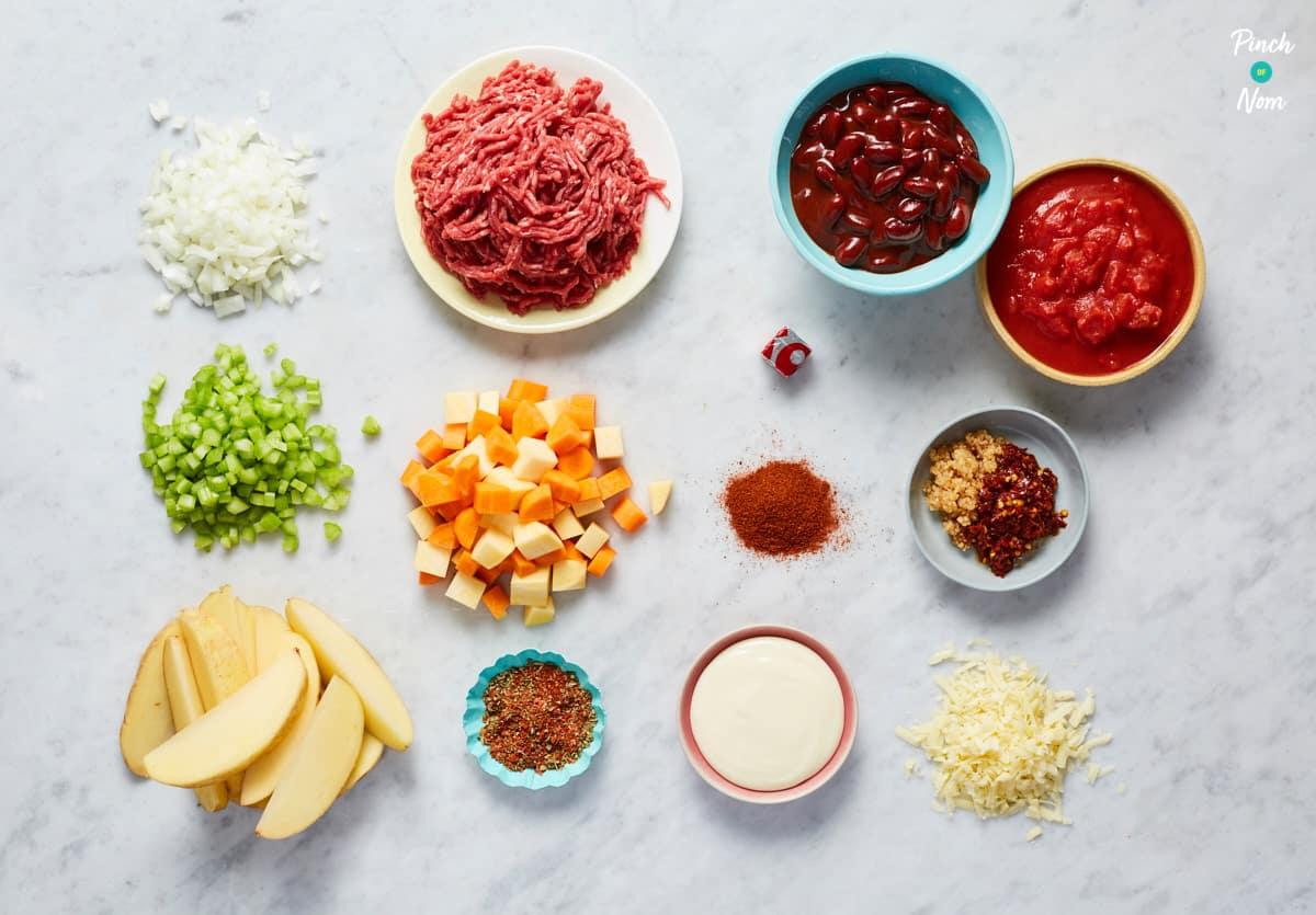 Chilli Cheesy Nachos - Pinch of Nom Slimming Recipes