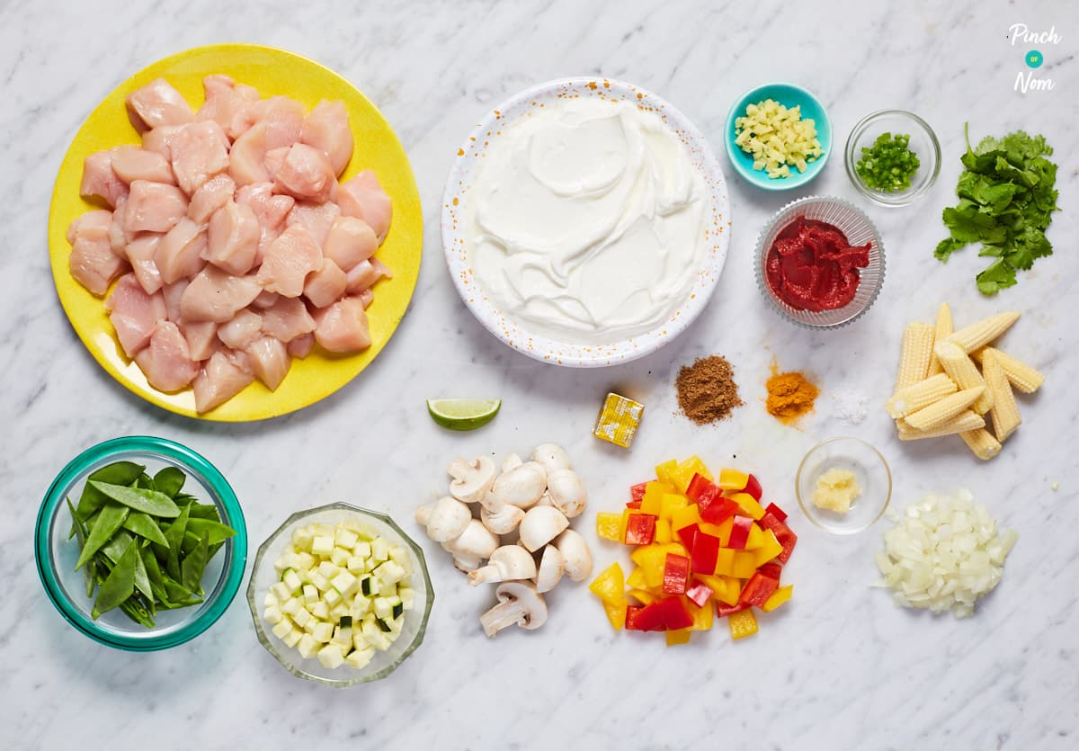 Creamy Chicken Curry - Pinch of Nom Slimming Recipes