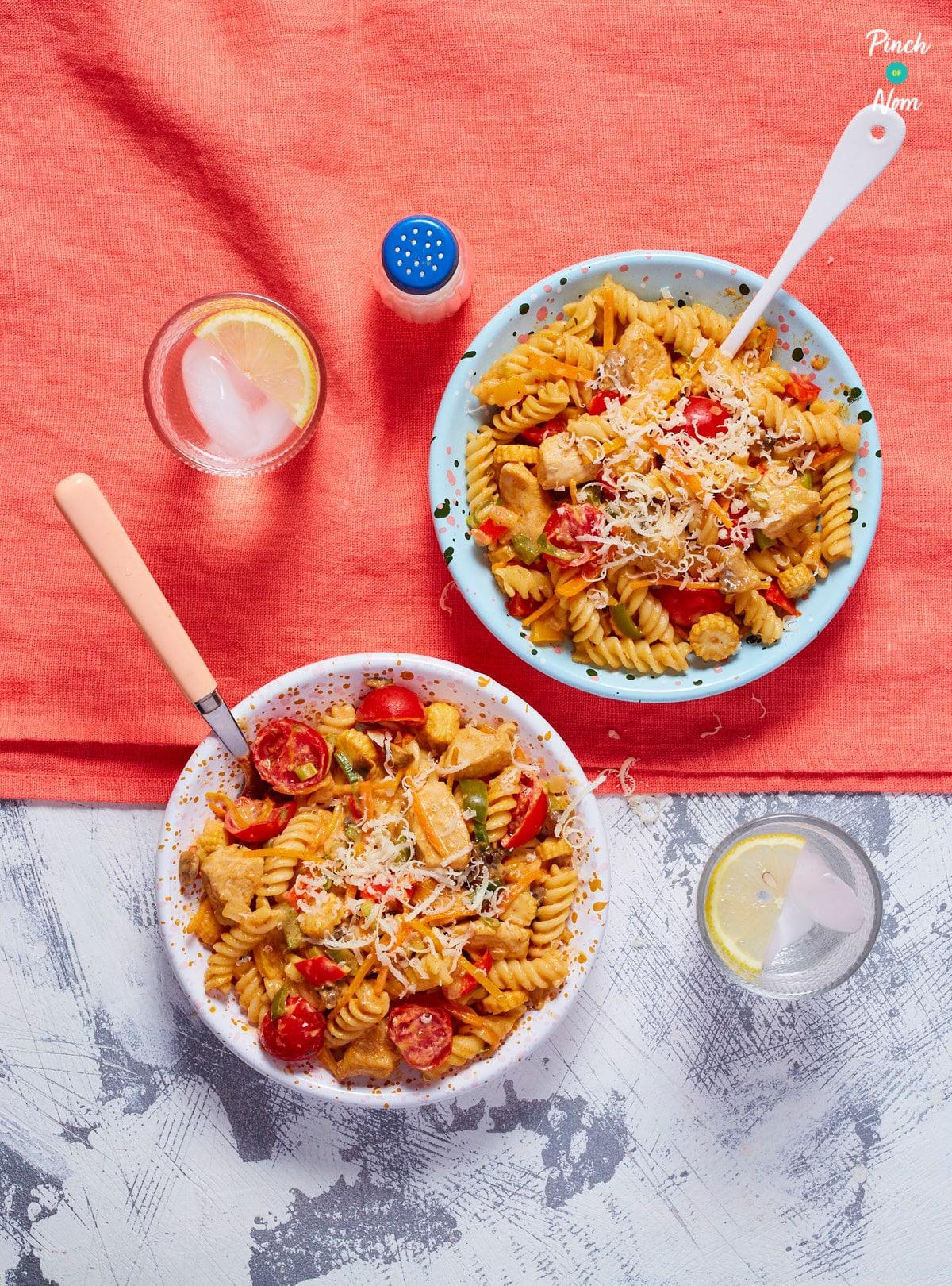 Creamy Cajun Chicken Pasta - Pinch of Nom Slimming Recipes