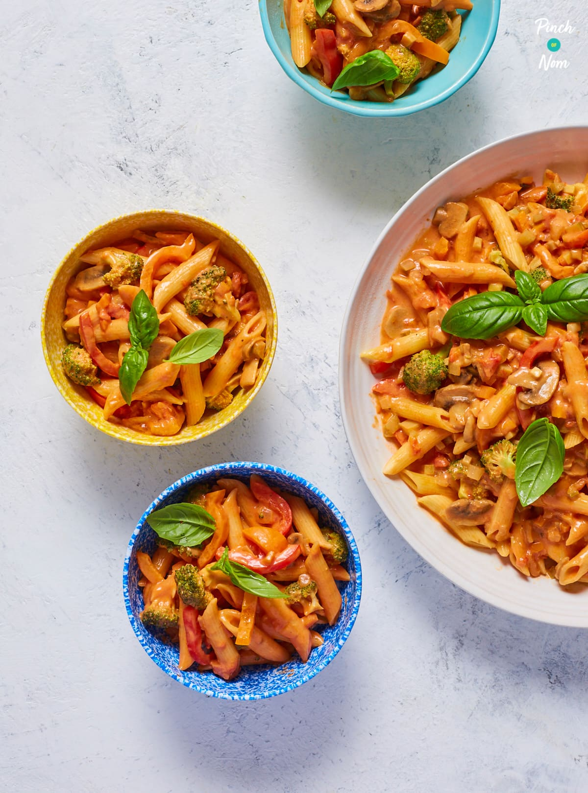 Creamy Tomato Pasta - Pinch of Nom Slimming Recipes