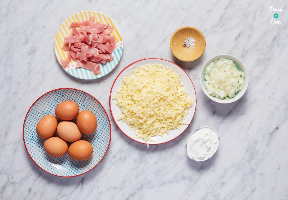 Crustless Quiche Lorraine - Pinch of Nom Slimming Recipes