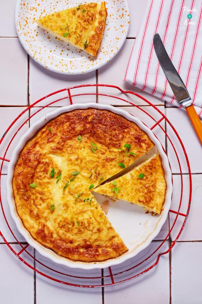 Crustless Quiche Lorraine-1 - Pinch of Nom Slimming Recipes