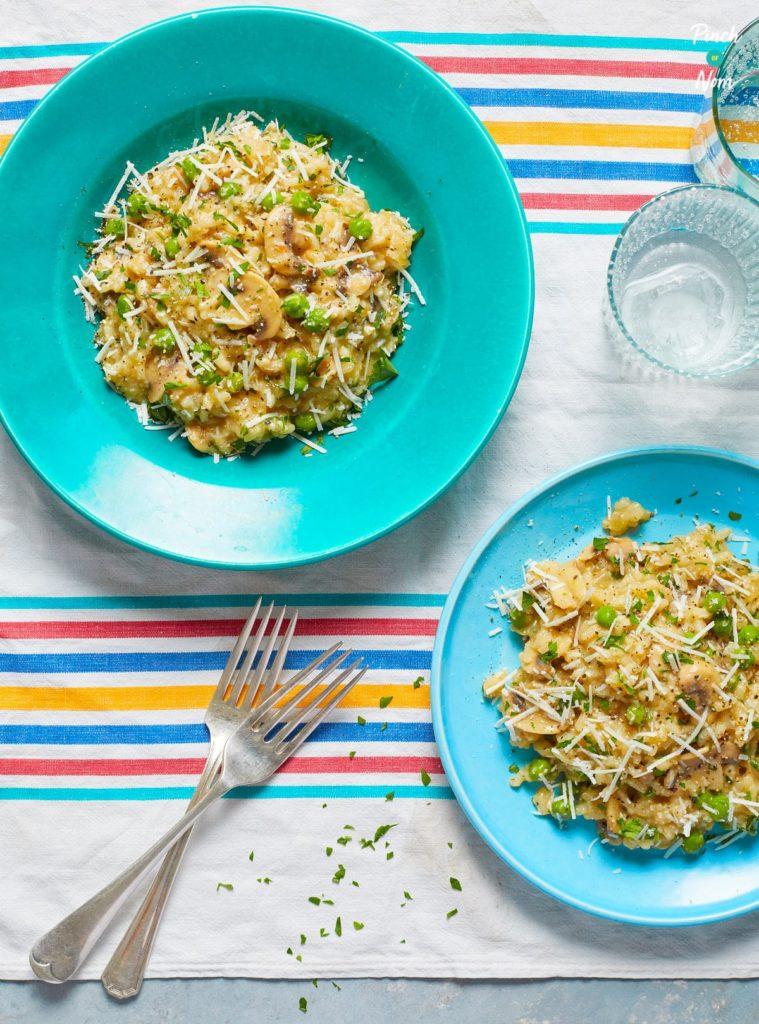 Garlic Mushroom Risotto - Pinch of Nom Slimming Recipes
