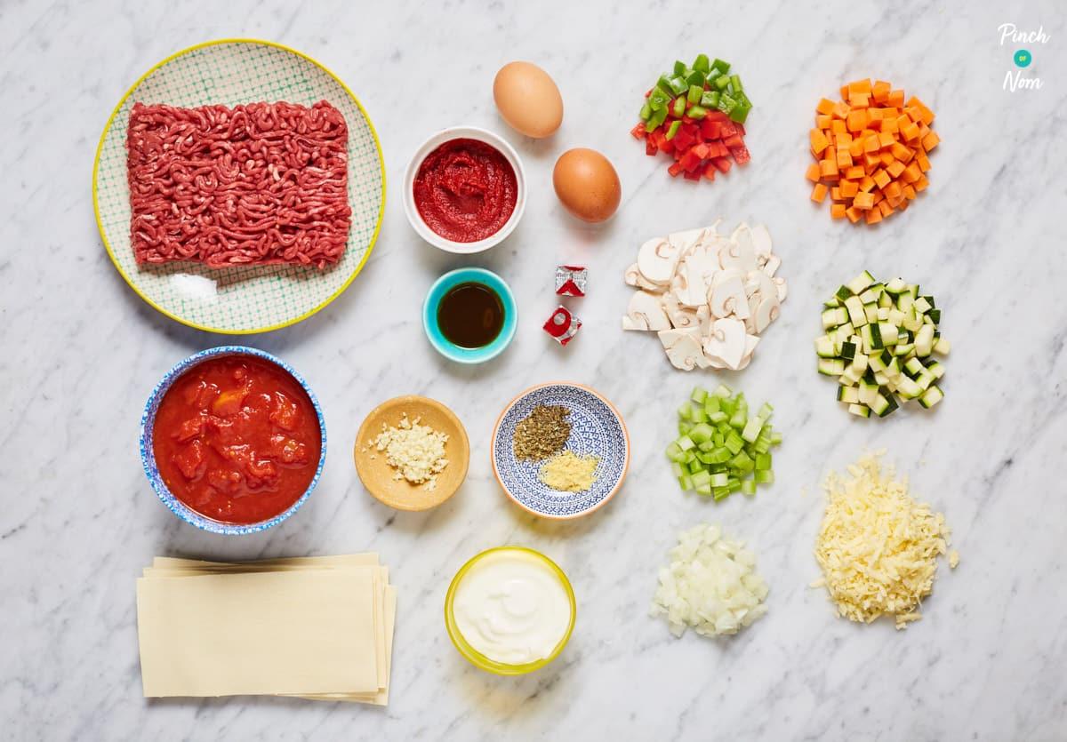 Lasagne - Pinch of Nom Slimming Recipes