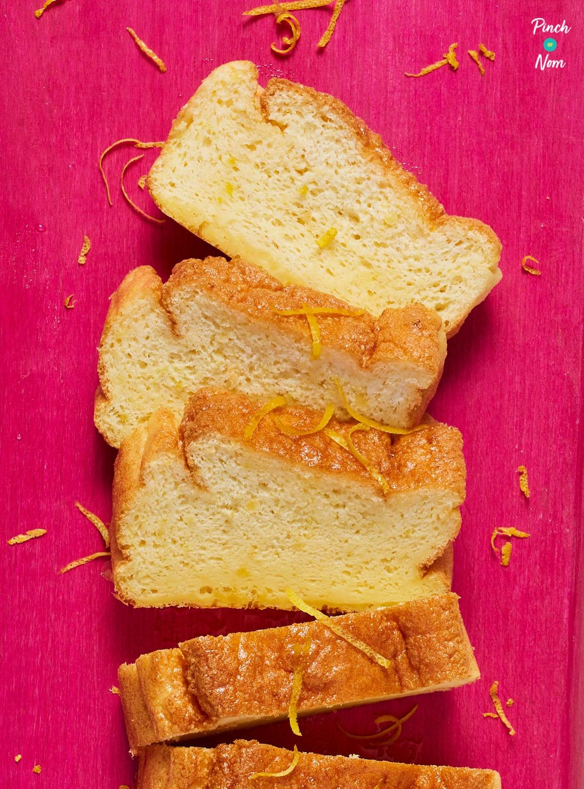 Lemon Drizzle Cake - Pinch of Nom Slimming Recipes