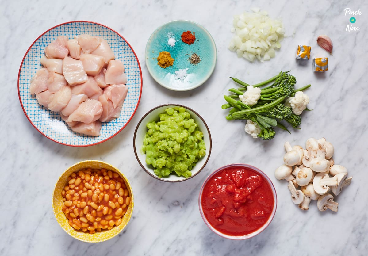 Mushy Pea Curry - Pinch of Nom Slimming Recipes