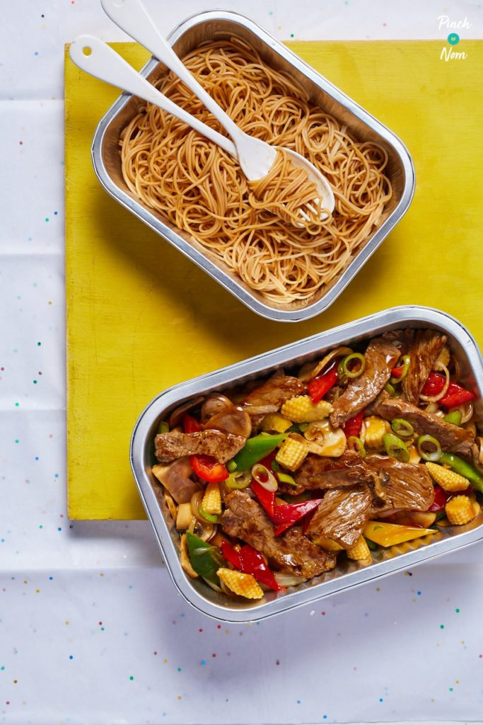 Stir-Fried Beef with Ginger and Spring Onion - Pinch of Nom Slimming Recipes