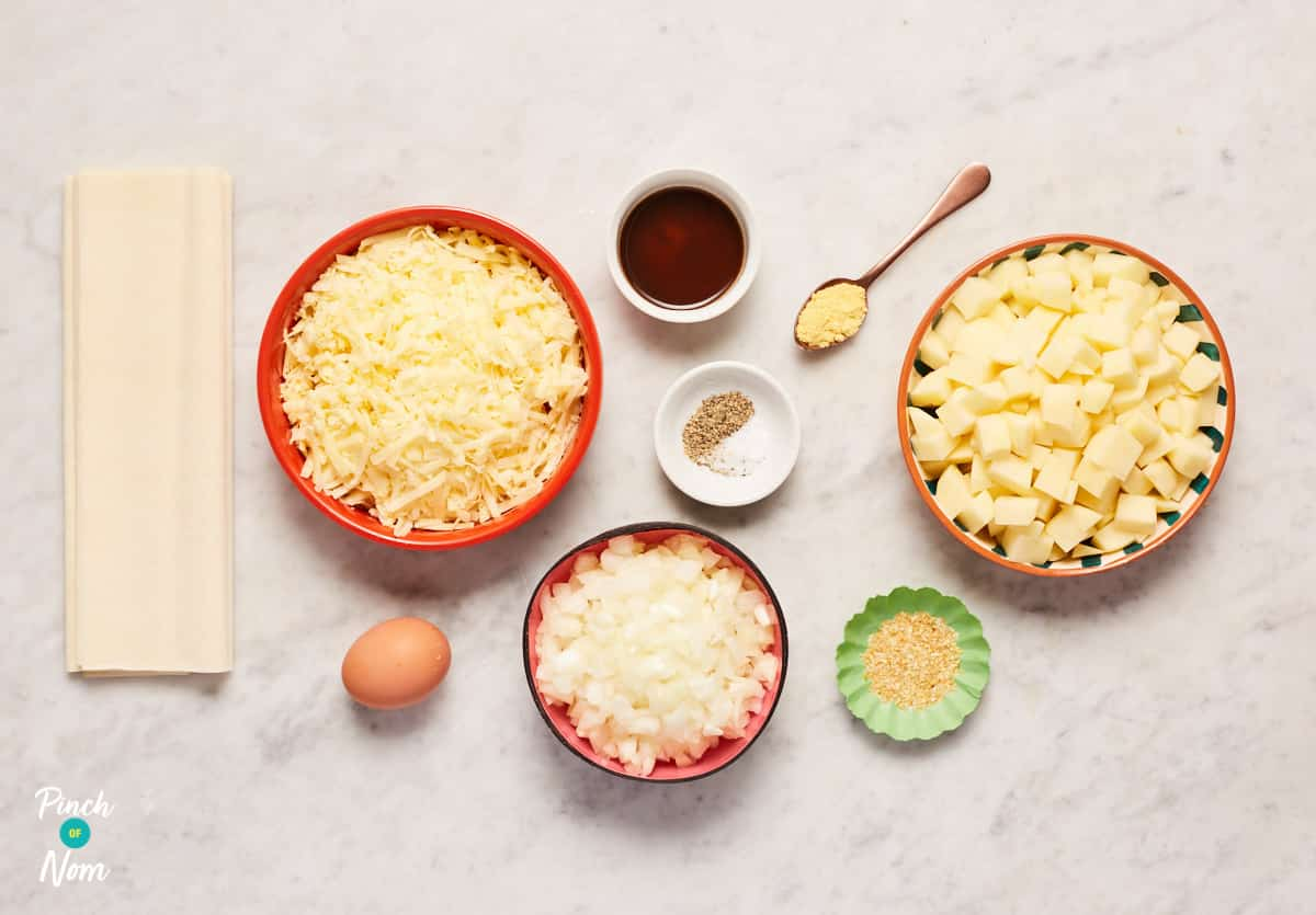 Cheese, Onion and Potato Pie - Pinch of Nom Slimming Recipes