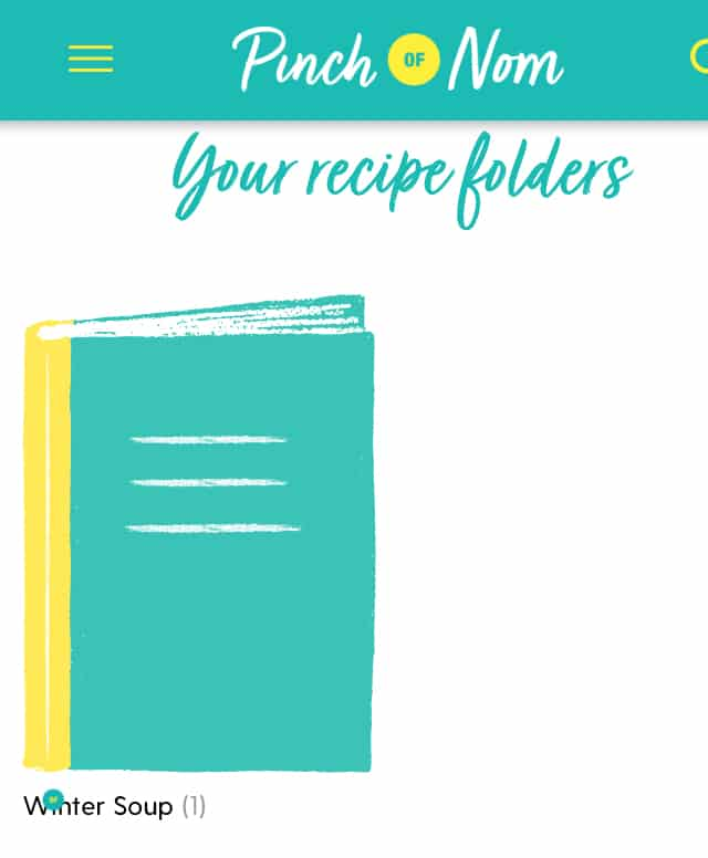 How to organise your saved recipes into folders - Pinch of Nom