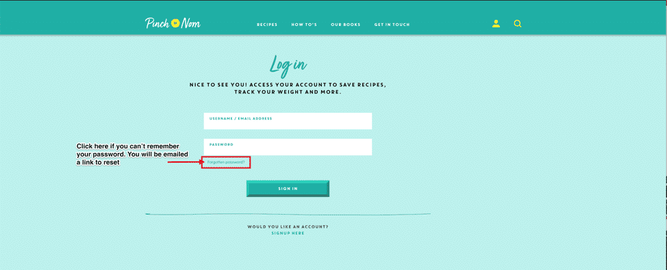 How to sign up and sign in to the website