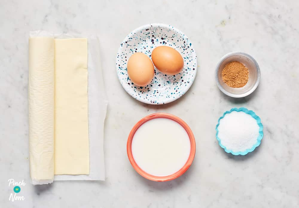 Portuguese Custard Tarts - Pinch of Nom Slimming Recipes