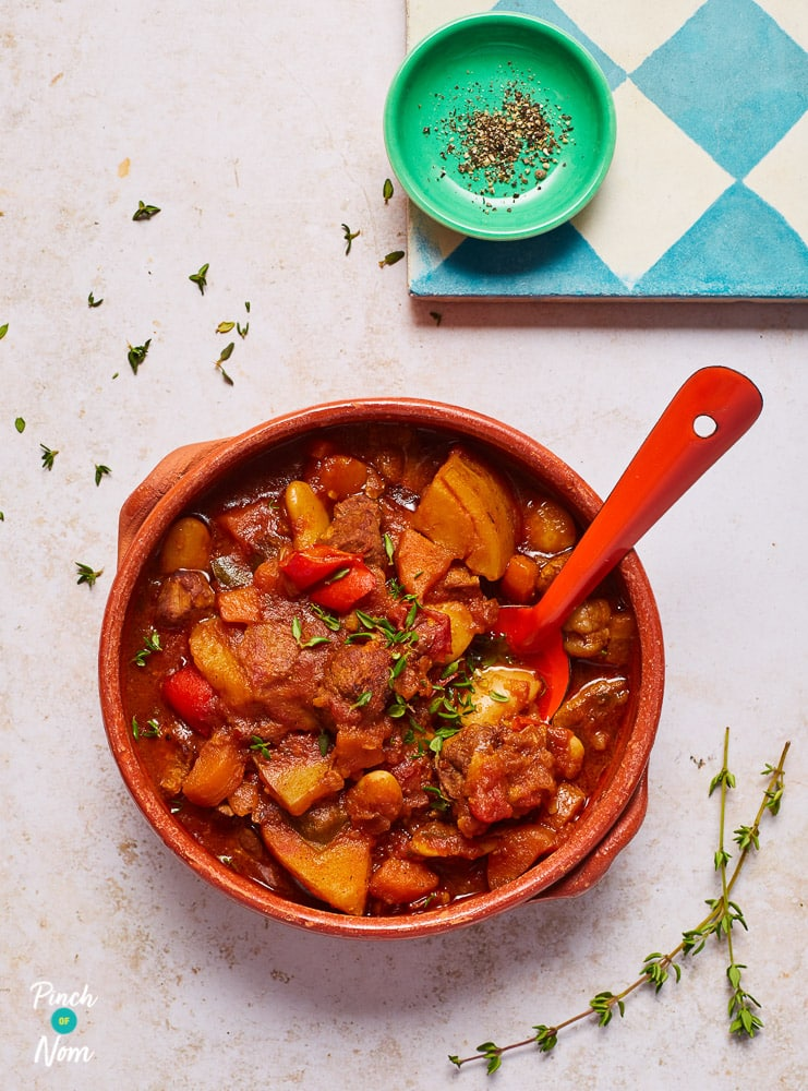 Slow Cooker Balsamic Beef Stew - Pinch of Nom Slimming Recipes