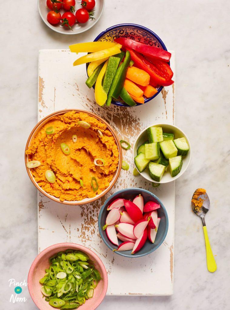 Chickpea Tikka Dip - Pinch of Nom Slimming Recipes