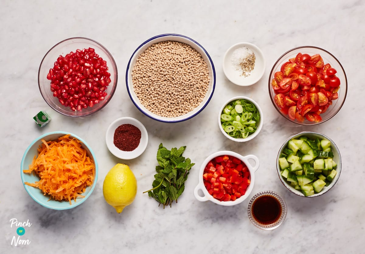 Jewelled Giant Couscous - Pinch of Nom Slimming Recipes