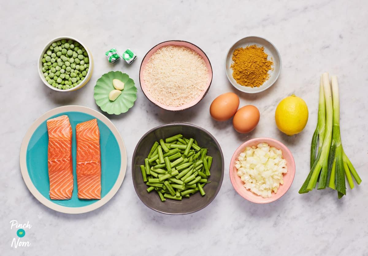 Salmon Kedgeree - Pinch of Nom Slimming Recipes
