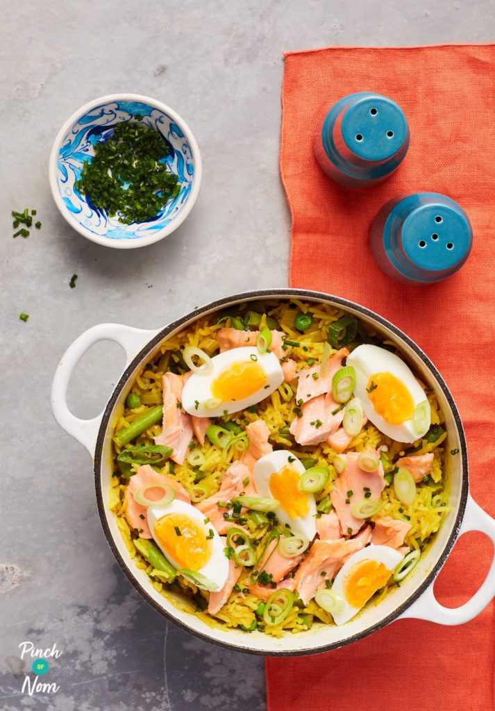 Salmon Kedgeree - Pinch of Nom Slimming Recipes