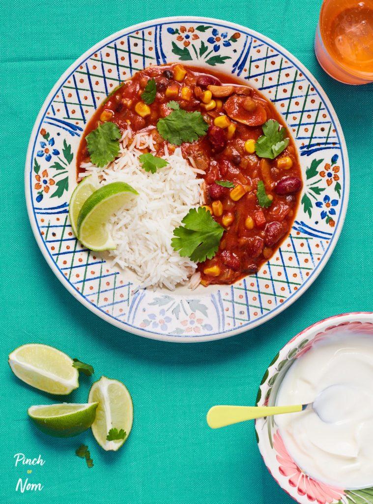 Vegan Chilli - Pinch of Nom Slimming Recipes