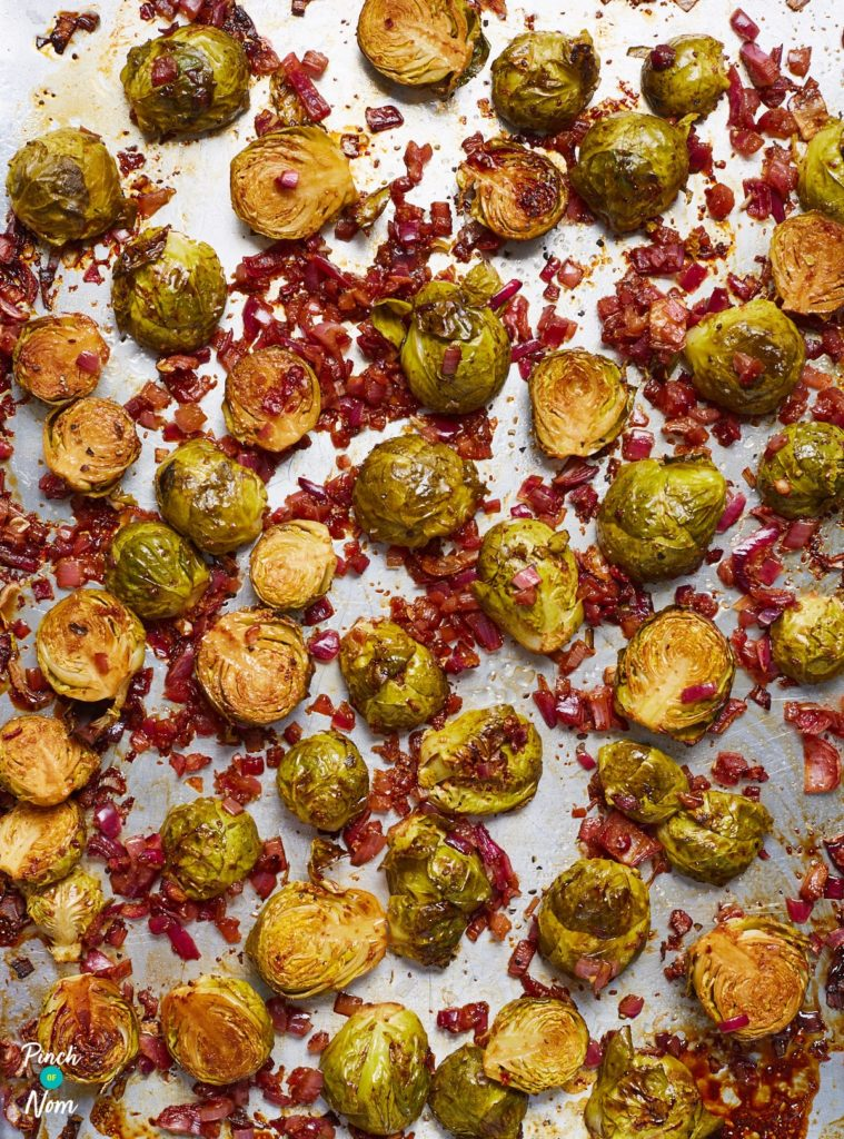 Balsamic Roasted Sprouts - Pinch of Nom Slimming Recipes