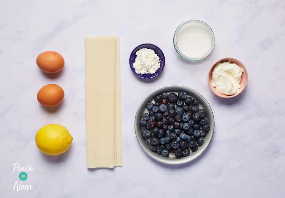 Lemon and Blueberry Tarts - Pinch of Nom Slimming Recipes