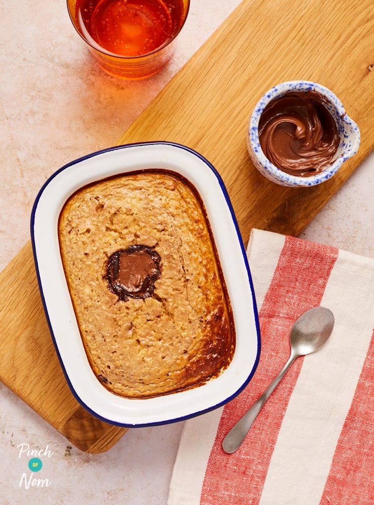 Nutella Baked Oats - Pinch of Nom Slimming Recipes