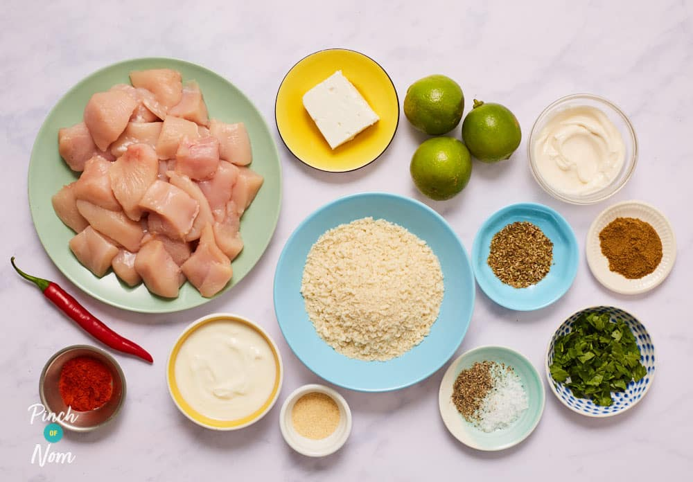 Mexican Chicken Nuggets - Pinch of Nom Slimming Recipes