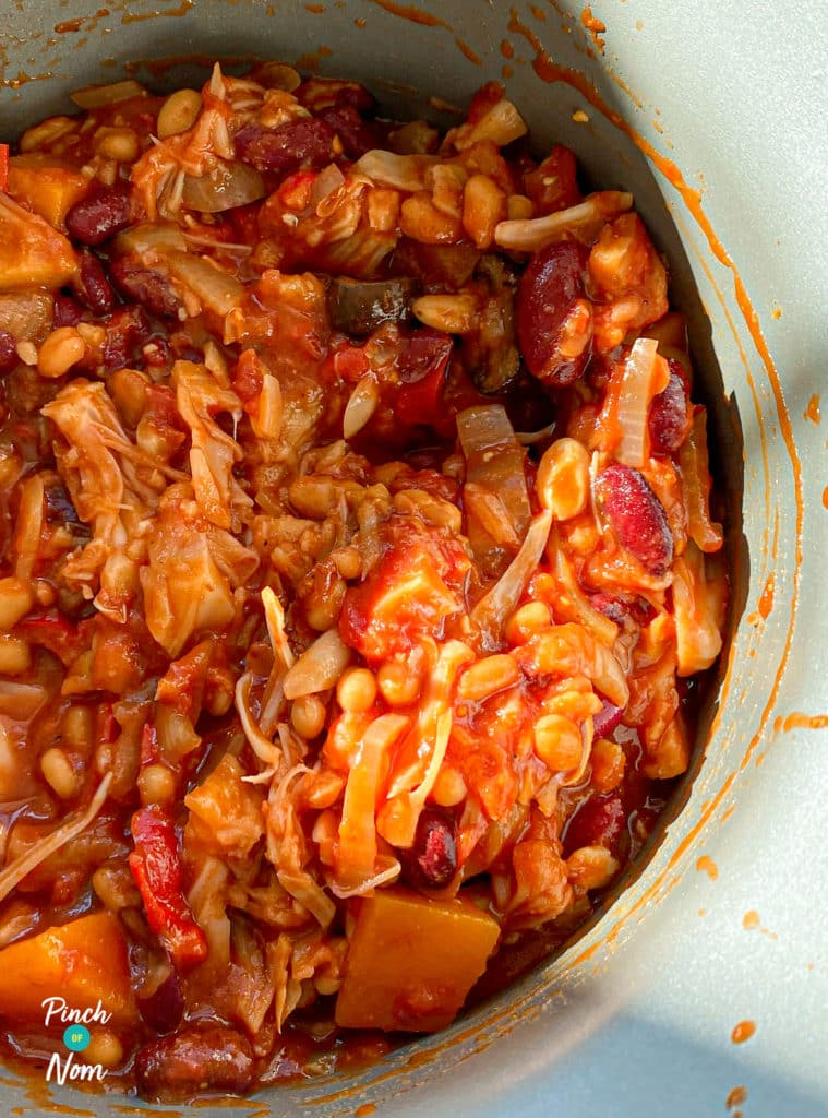 Vegan Campfire Stew - Pinch of Nom Slimming Recipes