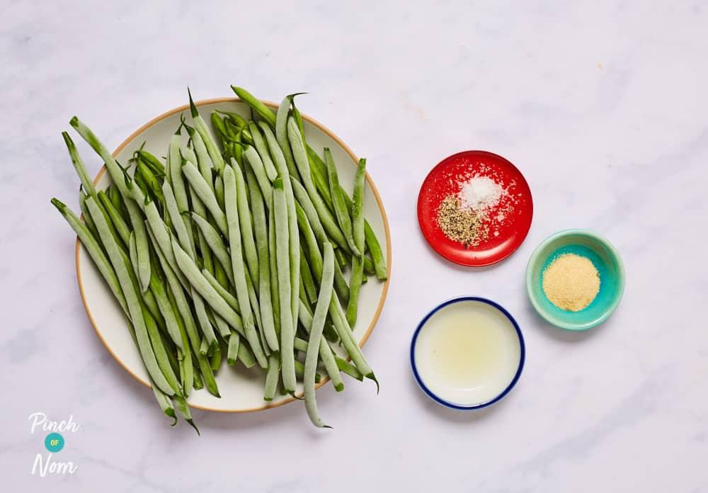 Garlic Green Beans - Pinch of Nom Slimming Recipes