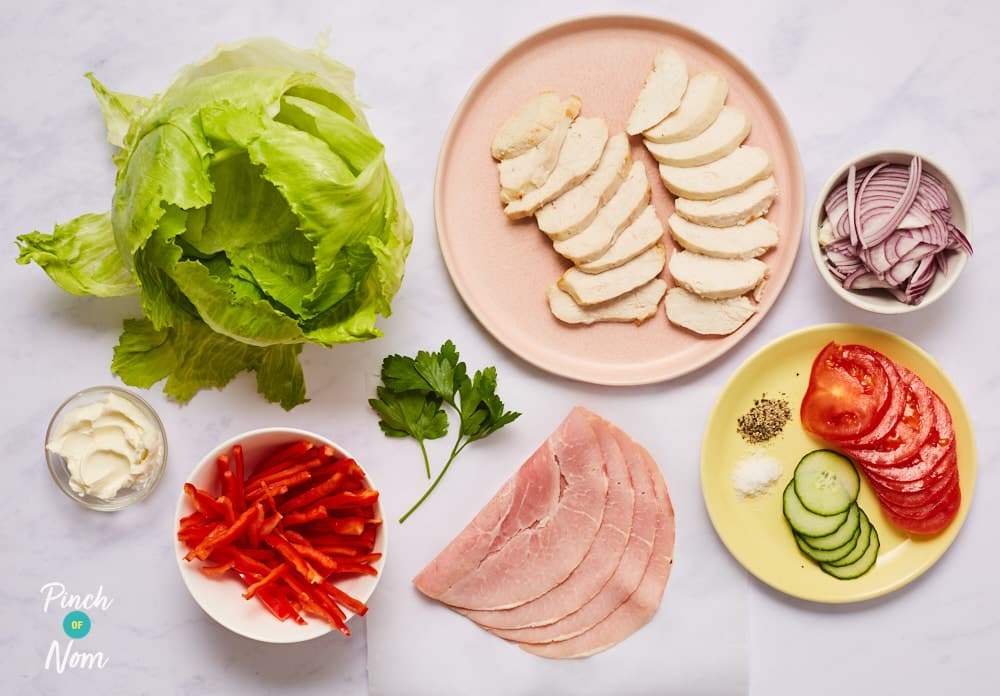 Low Carb Chicken Wraps - Pinch of Nom Slimming Recipes