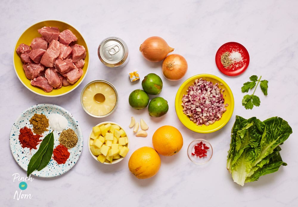 Pork Carnitas with Pineapple and Mango Salsa - Pinch of Nom Slimming Recipes
