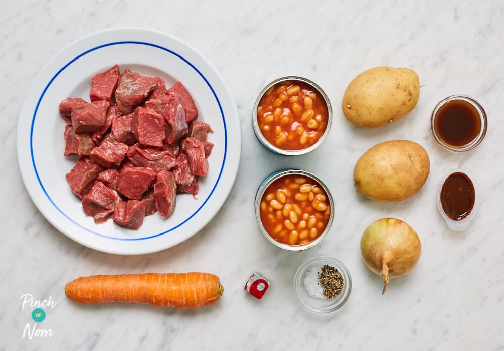 Beef and Baked Bean Stew - Pinch of Nom Slimming Recipes