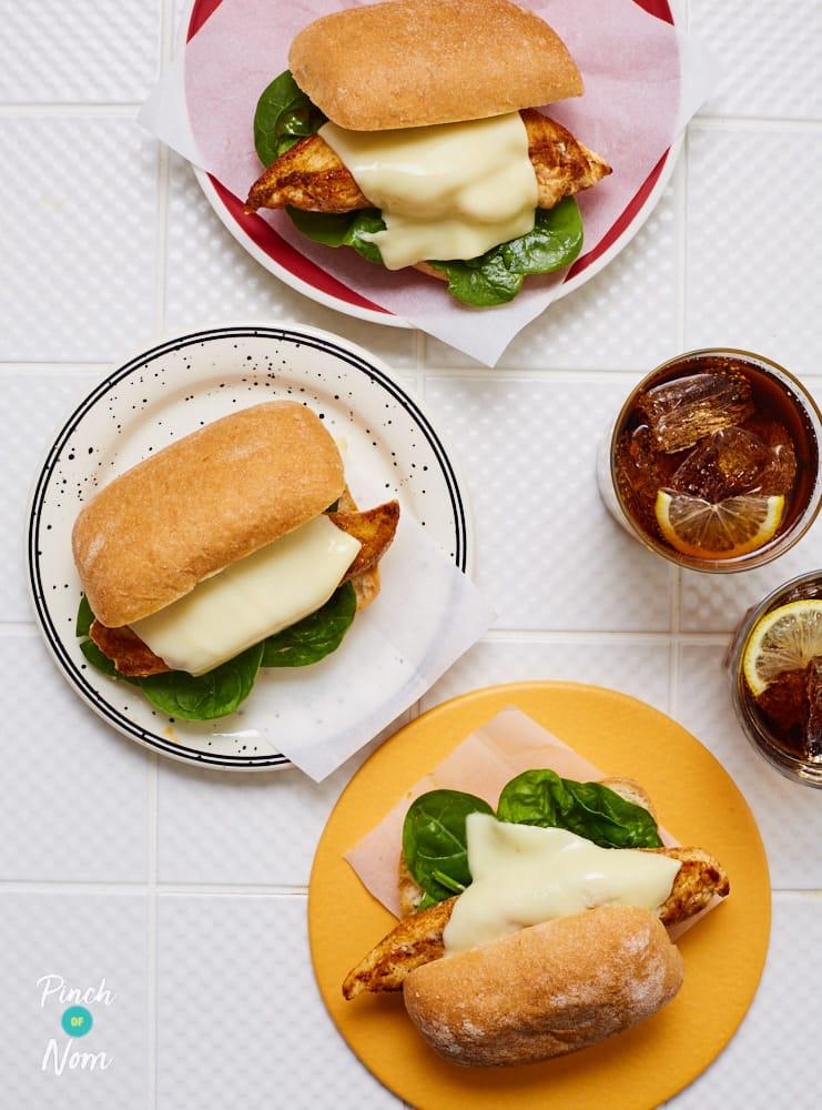 Cajun Chicken Burger - Pinch of Nom Slimming Recipes