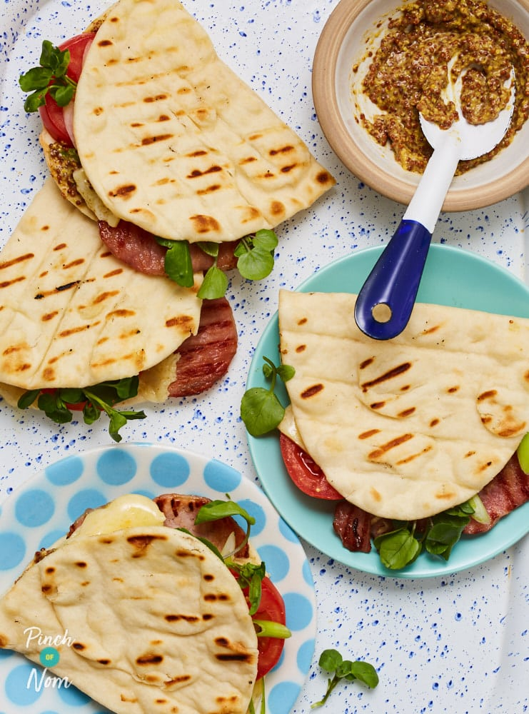 Cheesy Bacon Flatbreads - Pinch of Nom Slimming Recipes