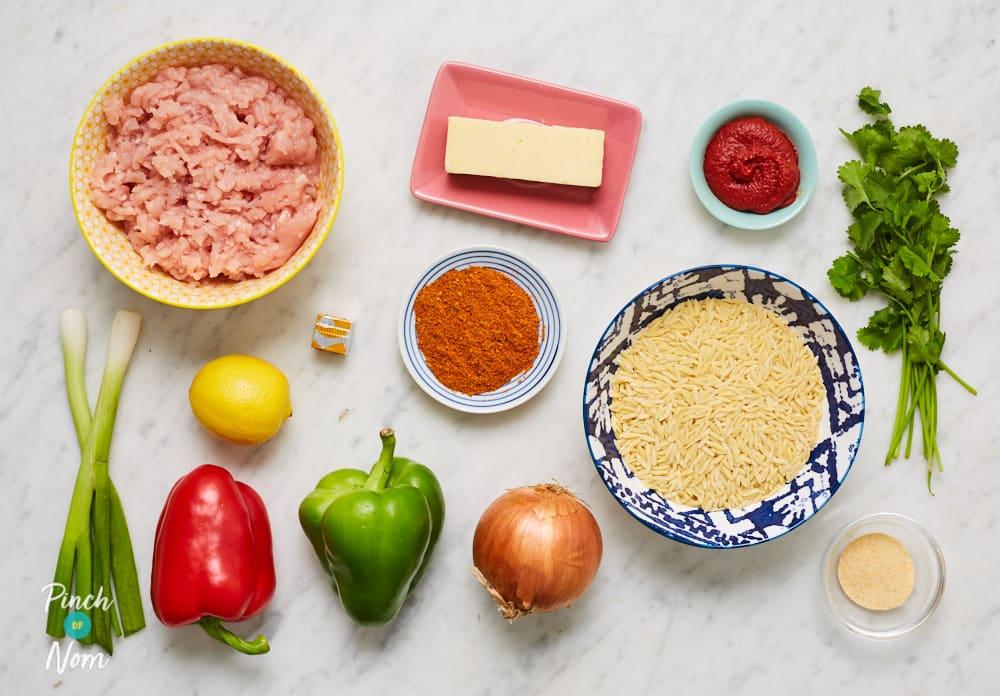 Cheesy Fajita Orzotto - Pinch of Nom Slimming Recipes