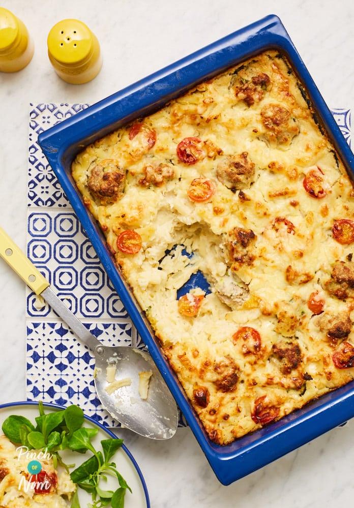Cheesy Mac N Meatballs - Pinch of Nom Slimming Recipes