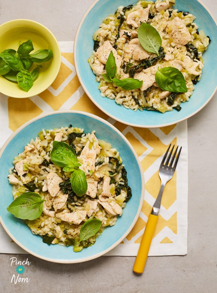Chicken and Spring Vegetable Risotto - Pinch of Nom Slimming Recipes