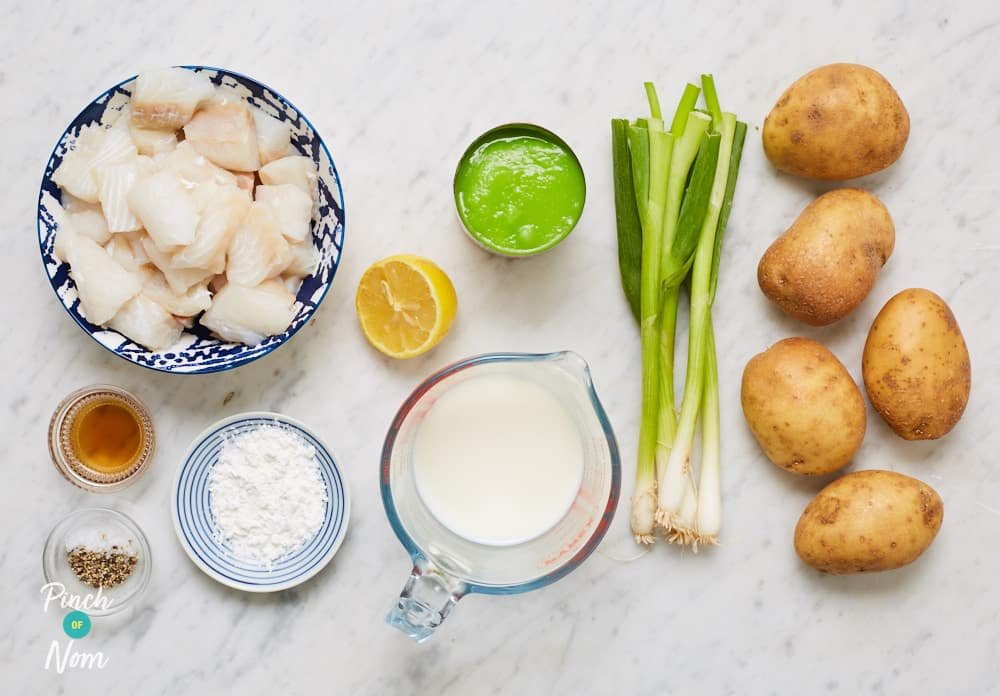 Fish and Chip Pie - Pinch of Nom Slimming Recipes