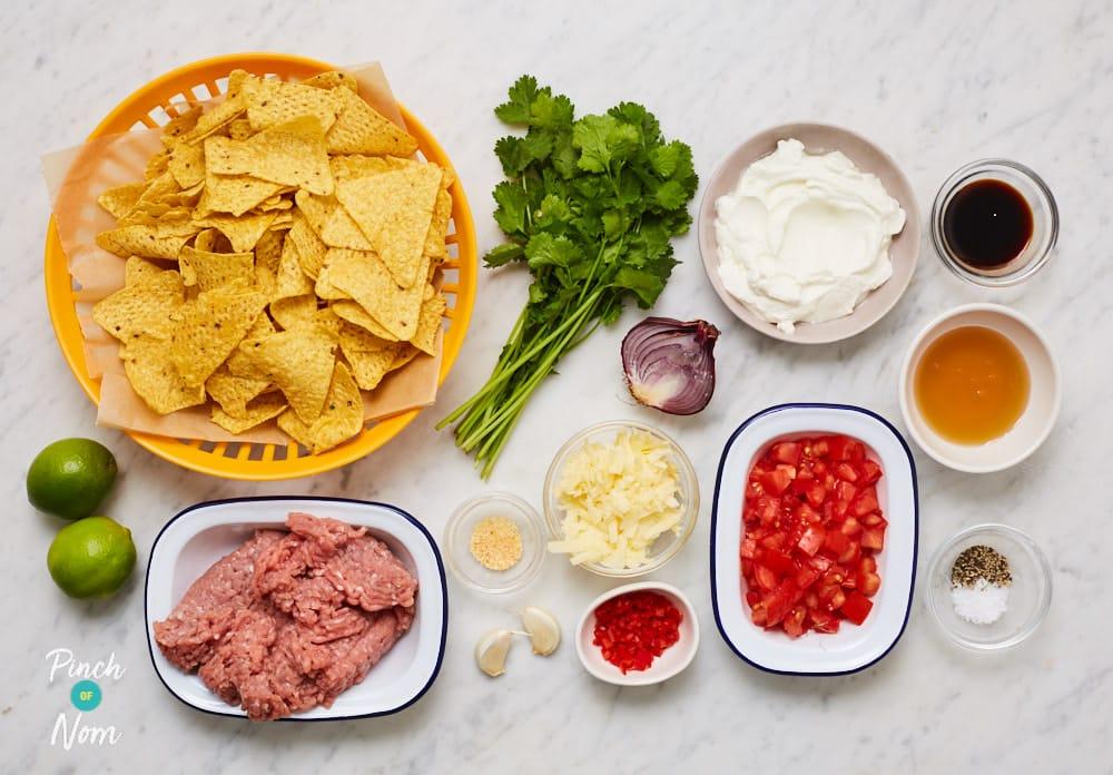 Honey and Lime Pork Nachos - Pinch of Nom Slimming Recipes