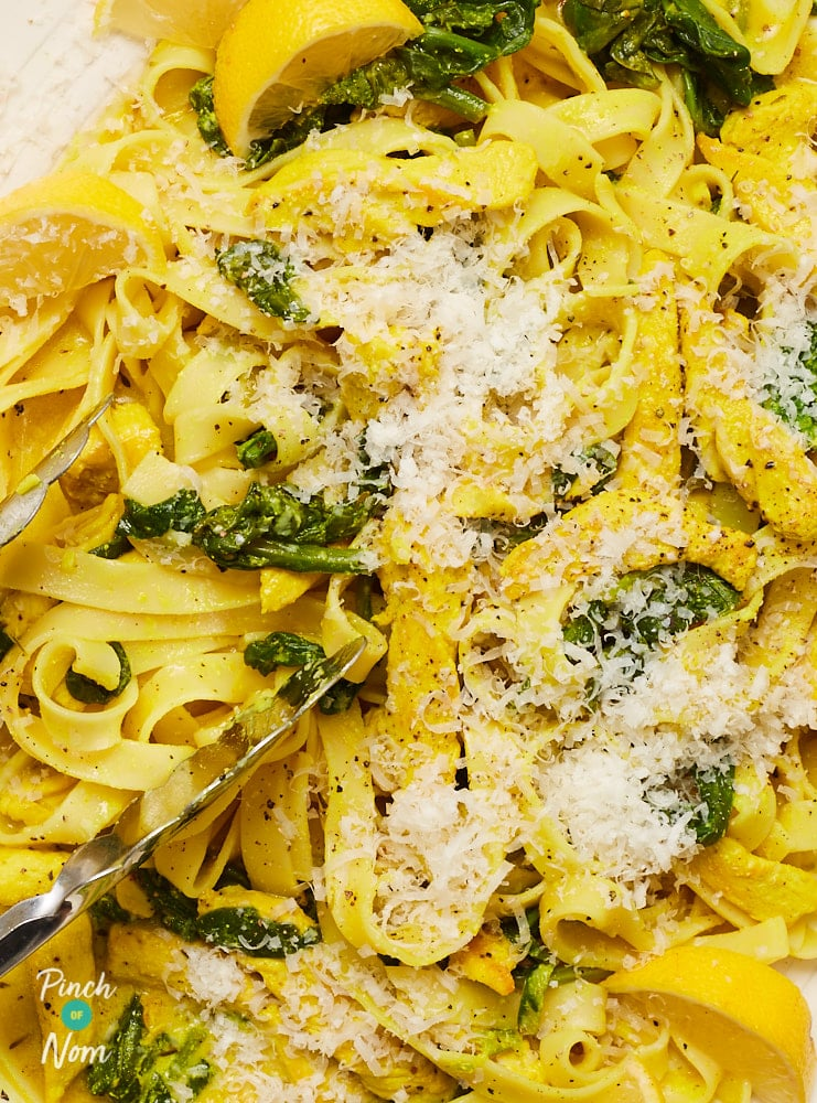 Lemon and Chicken Pasta - Pinch of Nom Slimming Recipes