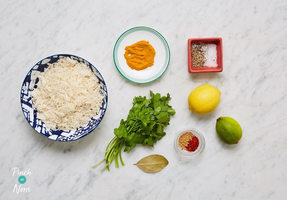Lemon and Turmeric Rice - Pinch of Nom Slimming Recipes
