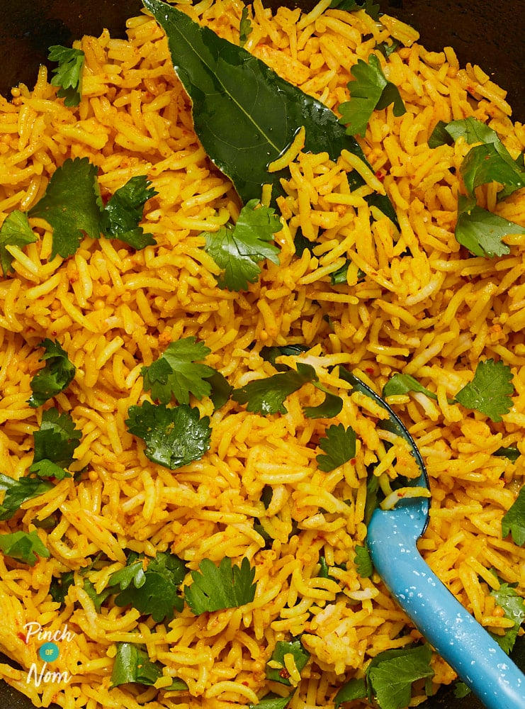 Lemon and Turmeric Rice - Pinch of Nom Slimming Recipes