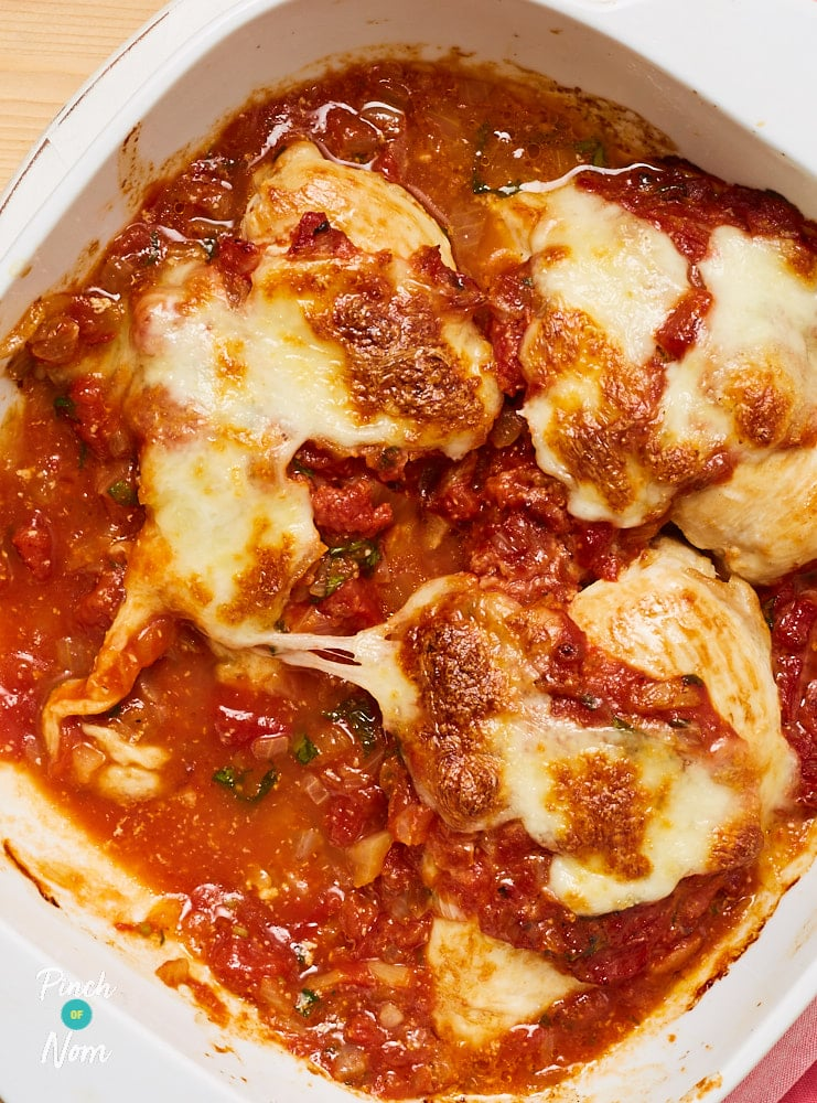 Margherita Chicken - Pinch of Nom Slimming Recipes