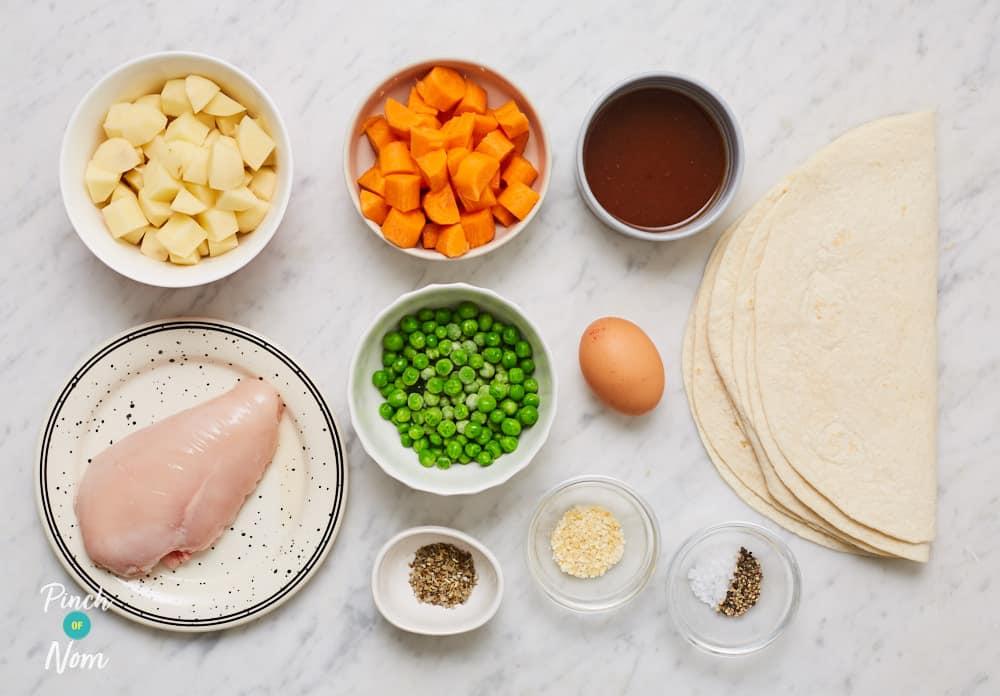 Roast Dinner Pasties - Pinch of Nom Slimming Recipes