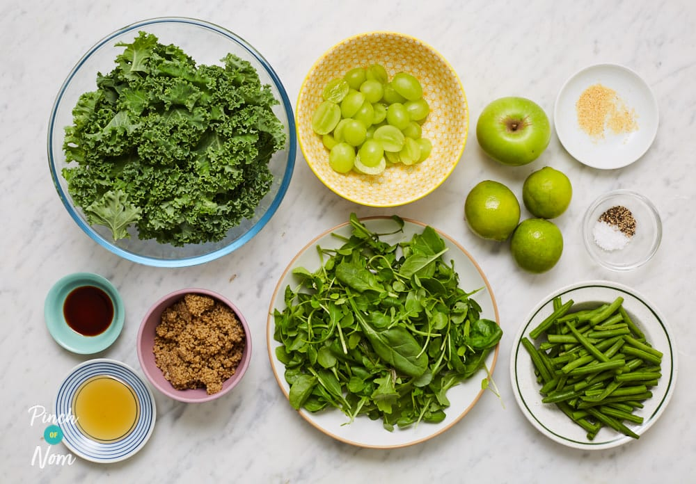 Very Green Zingy Kale Salad - Pinch of Nom Slimming Recipes