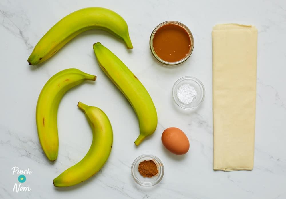 Banana and Caramel Filo Rolls - Pinch of Nom Slimming Recipes