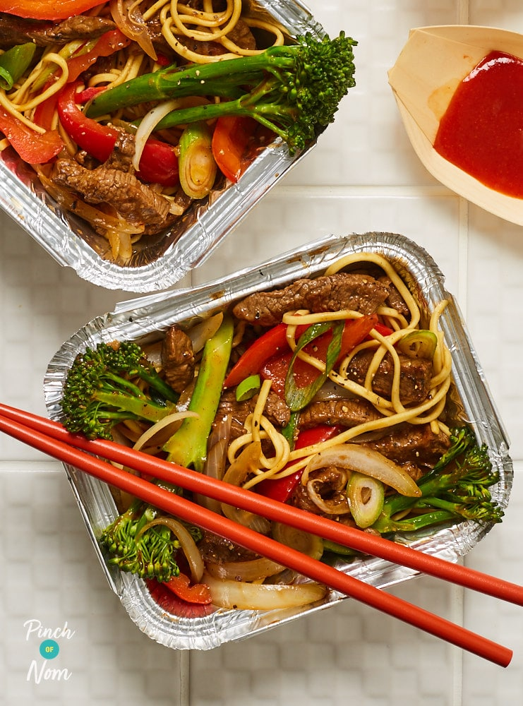 Beef and Broccoli Noodle Bowls - Pinch of Nom Slimming Recipes
