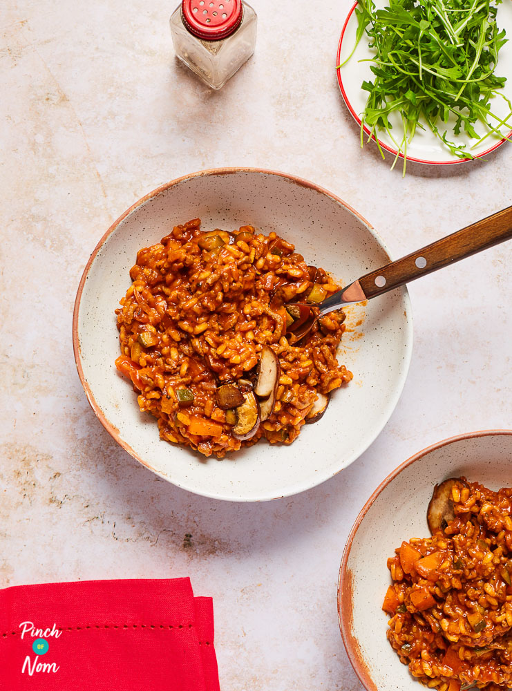 Bolognese Risotto - Pinch of Nom Slimming Recipes