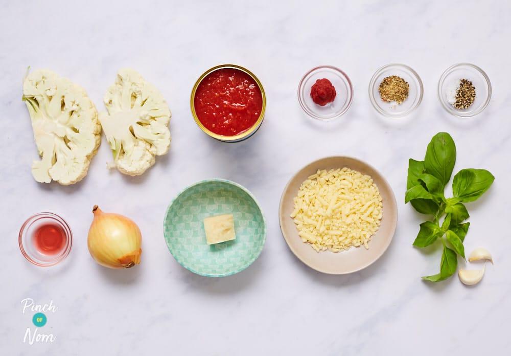 Cauliflower Parmigiana - Pinch of Nom Slimming Recipes