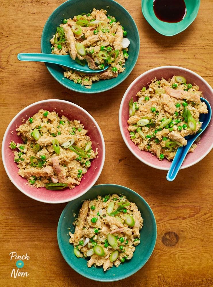 Cauliflower and Chicken Fried Rice - Pinch of Nom Slimming Recipes