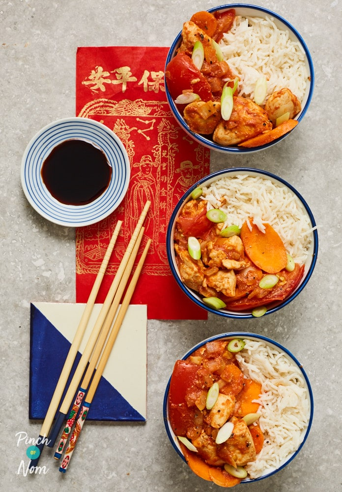 Chinese Chicken and Tomatoes - Pinch of Nom Slimming Recipes