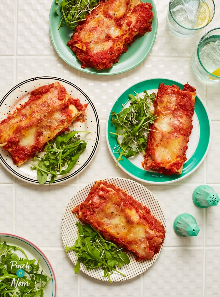 Ham and Leek Cannelloni - Pinch of Nom Slimming Recipes